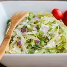 Cabbage Salad with Goat Cheese