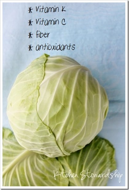 Cabbage is Nutritious