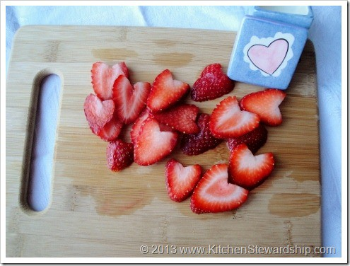 Strawberry Hearts for Valentine's Day treats