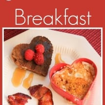 A Valentine's Day Heart-Shaped Breakfast {REAL FOOD}
