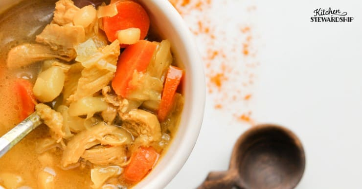 This turmeric chicken soup is loaded with cabbage and coconut. Grab a big bowl for some amazing health benefits.