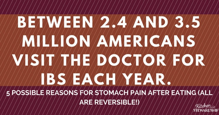 5 Reasons you have stomach pain and how to reverse it today!