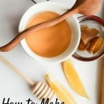 How to make simple ginger tea - to warm you up or keep the coughs and colds away. Even if you are not a tea person, this slightly spicy warm ginger drink will hit the spot