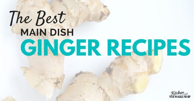Ginger is so good for you! Why not incorporate more of it into your meal plans? These main dish ginger recipes make for delicious dinners to get your family to eat more ginger!