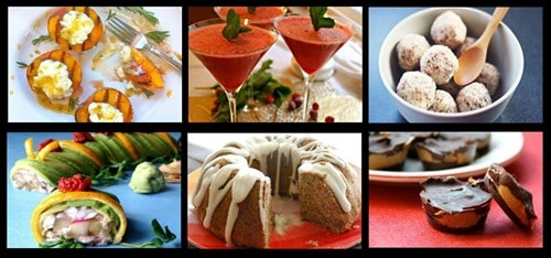 Sweets cookbook collage horiz