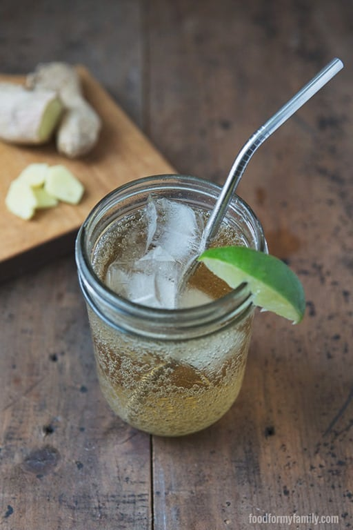 Fight the 'forbidden fruit mentality' -- not every fun drink is off limits in a real food world. Make your own homemade honey-sweetened ginger ale recipe -  you will be blown away at how tasty and satisfying it is and reap the health benefits of fresh ginger, plus you are in charge of the ingredients. This is by far my favorite drink recipe ever!