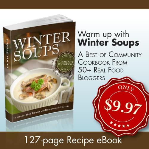 winter soup sale banner