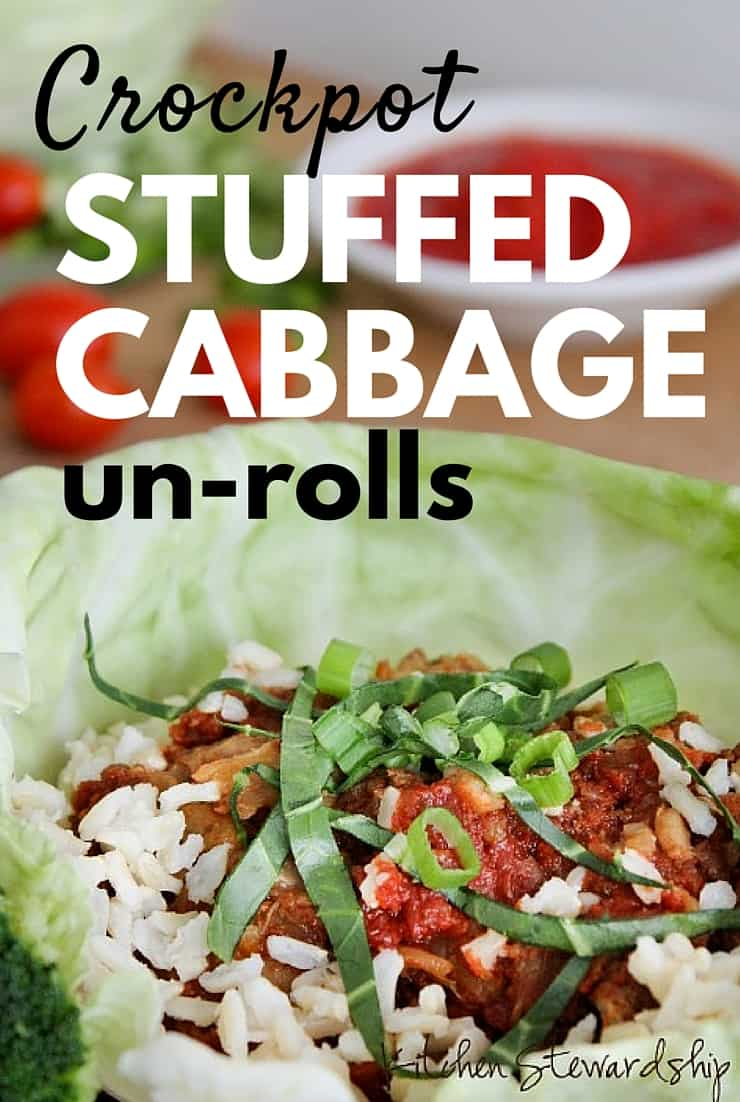 "Easy, in a crockpot and a superfood... what's not to love about this Stuffed Cabbage ""UN-ROLL"" Recipe??"
