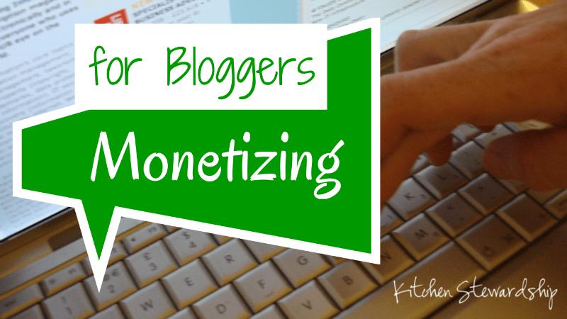 Monetizing for Bloggers