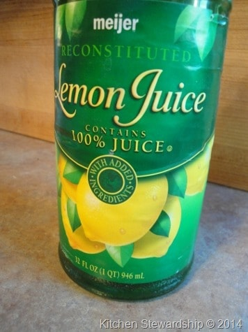 lemon juice preservatives