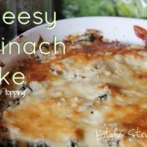 Recipe Connection: Cheesy Spinach Bake with Crumb Topping (Get Those Kids to Eat their Spinach!)