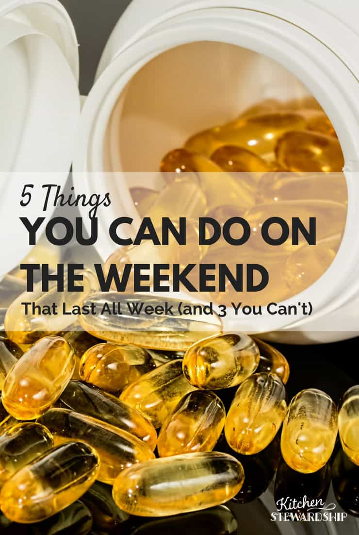 5 Things You Can Do On The Weekend To Skip Taking Supplements Daily