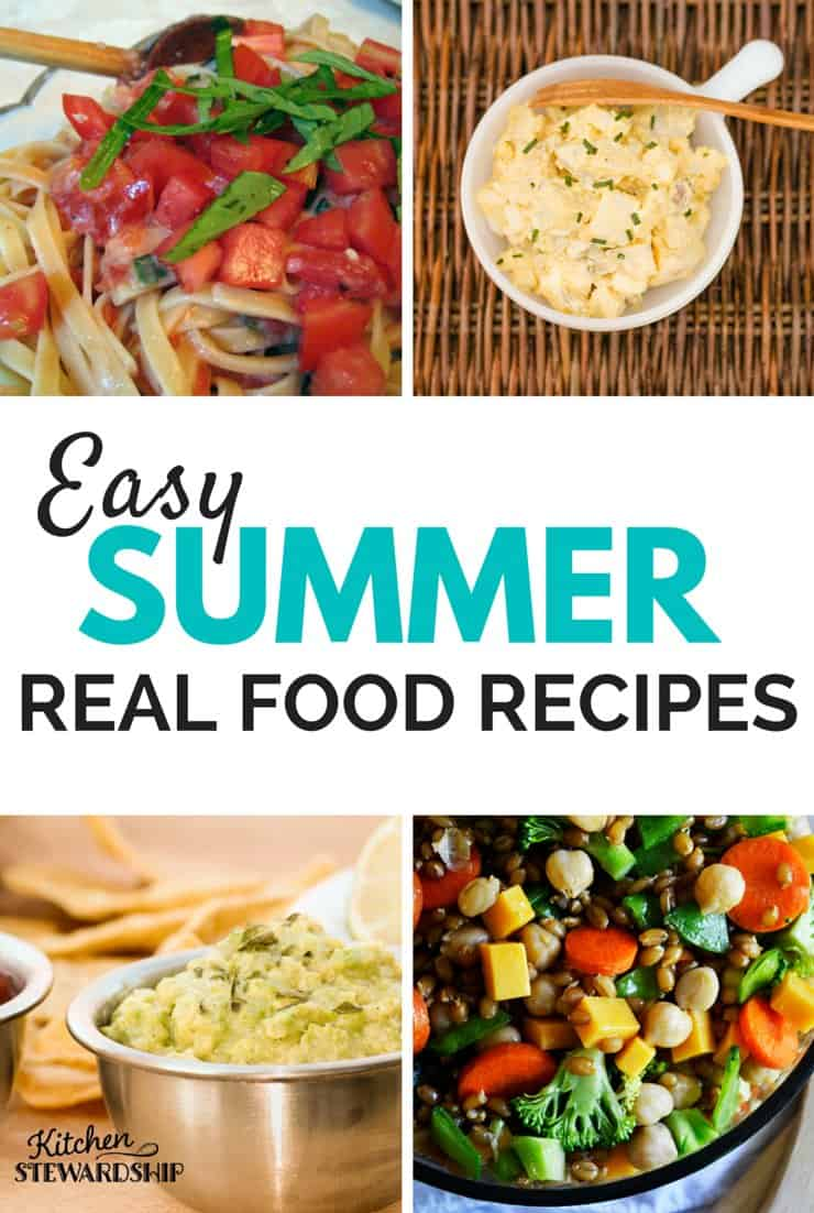 When the summer temps rise you want to get out of the house. Find easy recipes to take you to the campground or potlucks and parties using real food.