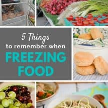 5 Things to Remember When Freezing Food