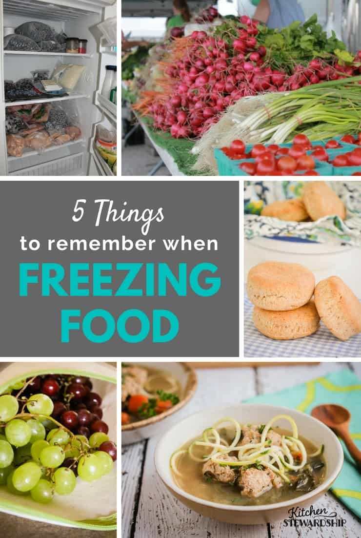 5 simple tips to keep in mind to freezing food like a pro.