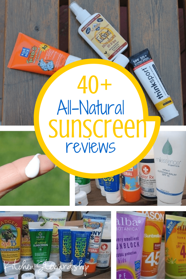 Over SIXTY Natural Sunscreen Reviews (updated 2015) - Which One is Right For You? Find the very safest that won't make you look like Casper the Friendly Ghost or be super annoying to apply.