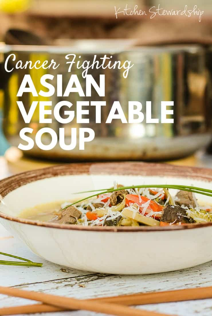 Cancer Fighting Vegetable Soup Recipe with an Asian Twist. Fight cancer naturally with these super foods. So easy to make and full of flavor. This soup is literally a life saver.