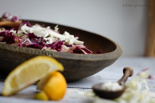 Cancer Fighting Red Cabbage Slaw Salad