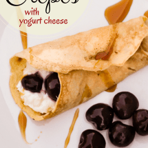 Cherry Almond Coconut Crepes Recipe