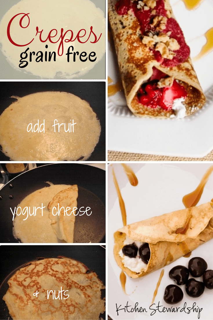 Grain free & refined sugar free, Cherry Almond Coconut Crepes make a perfect healthy dessert! Or maybe even breakfast!