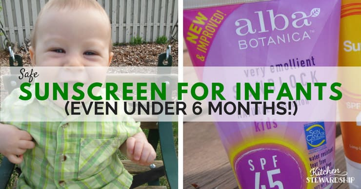 Don't play a guessing game. I'll share with you the safe sunscreen options for infants.