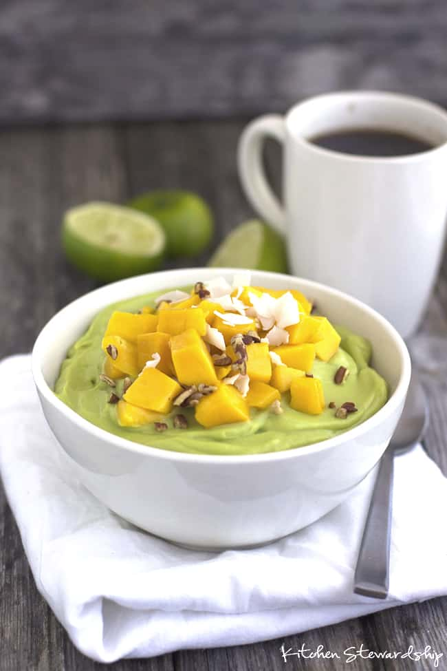 avocado pudding veggies for breakfast ideas