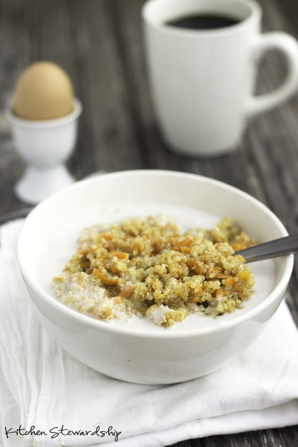carrot quinoa vegetables for breakfast ideas