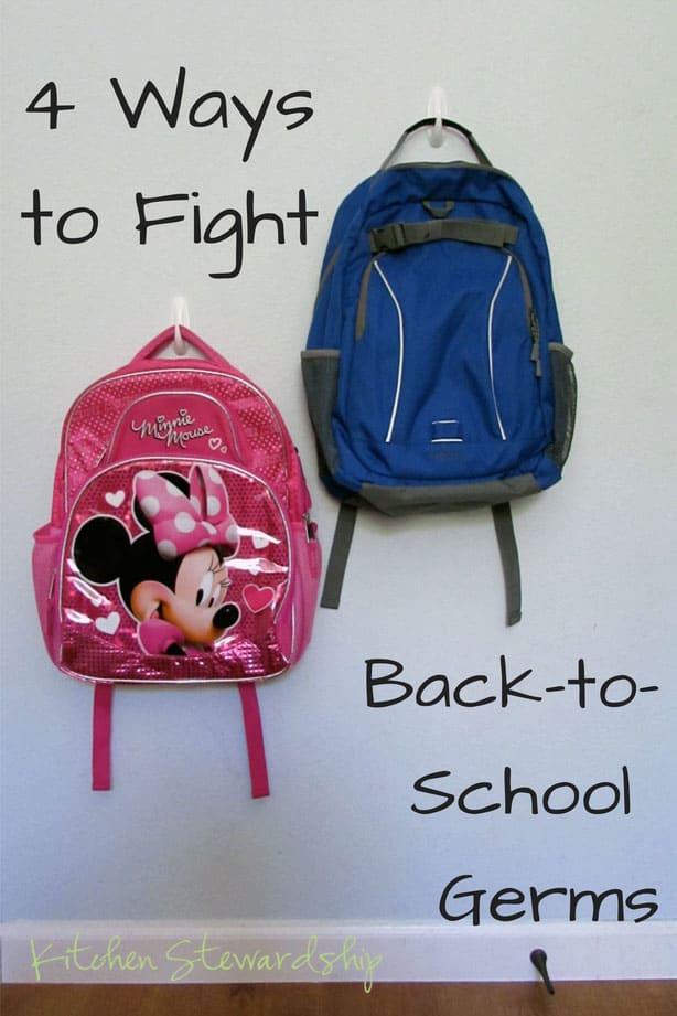 4 Ways to Fight Back-to-School Germs :: via Kitchen Stewardship