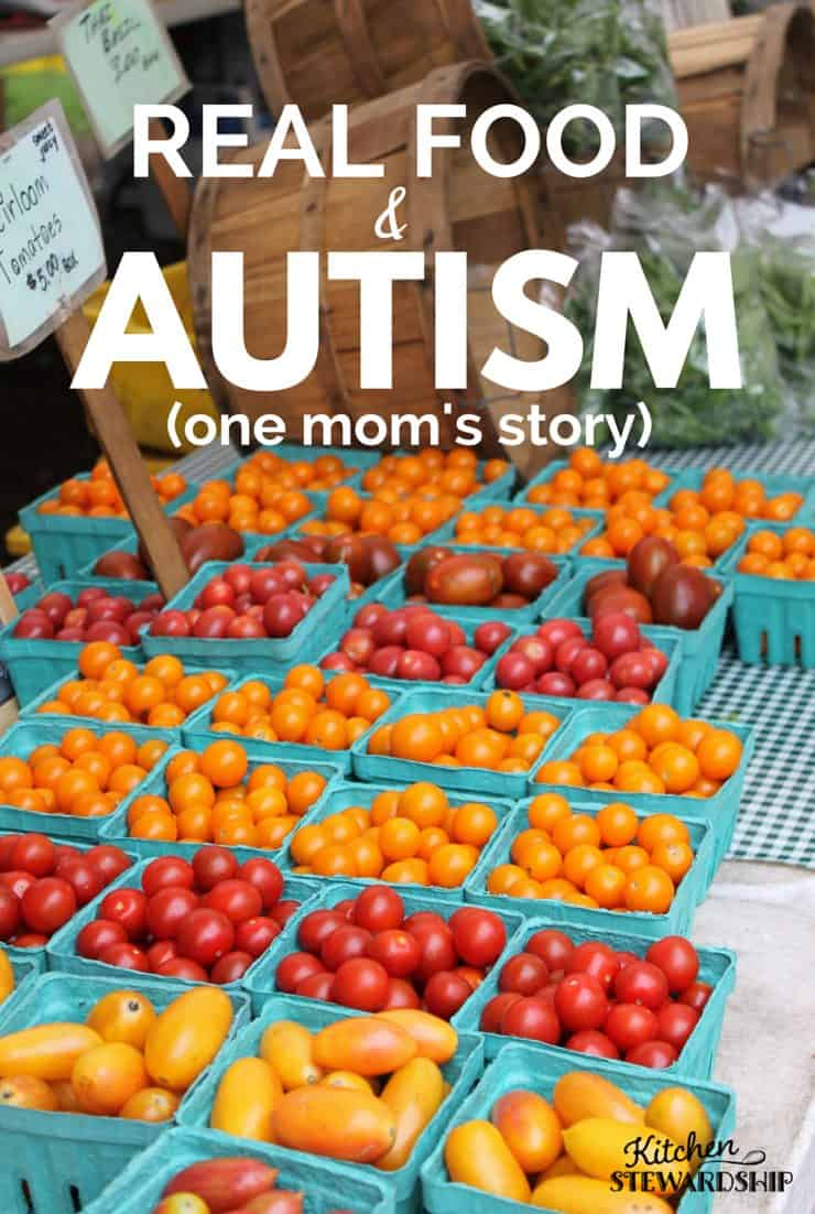 real food and autism