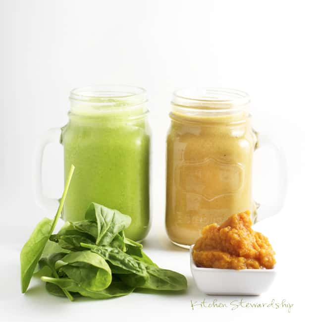 Supercharged Smoothies - Easy ways to up the nutrition in your morning smoothies :: via Kitchen Stewardship