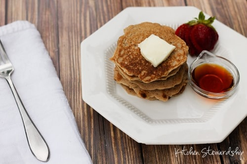easy gluten-free whole grain pancakes