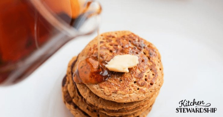 Soaked whole grain pancakes for camping