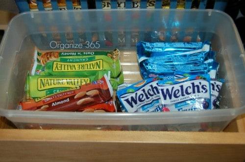 Using Plastic Shoe Boxes to Organize Your Kitchen | Organize 365