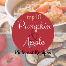 Apple Season! Pumpkin Season! Top 10 Recipes on Pinterest