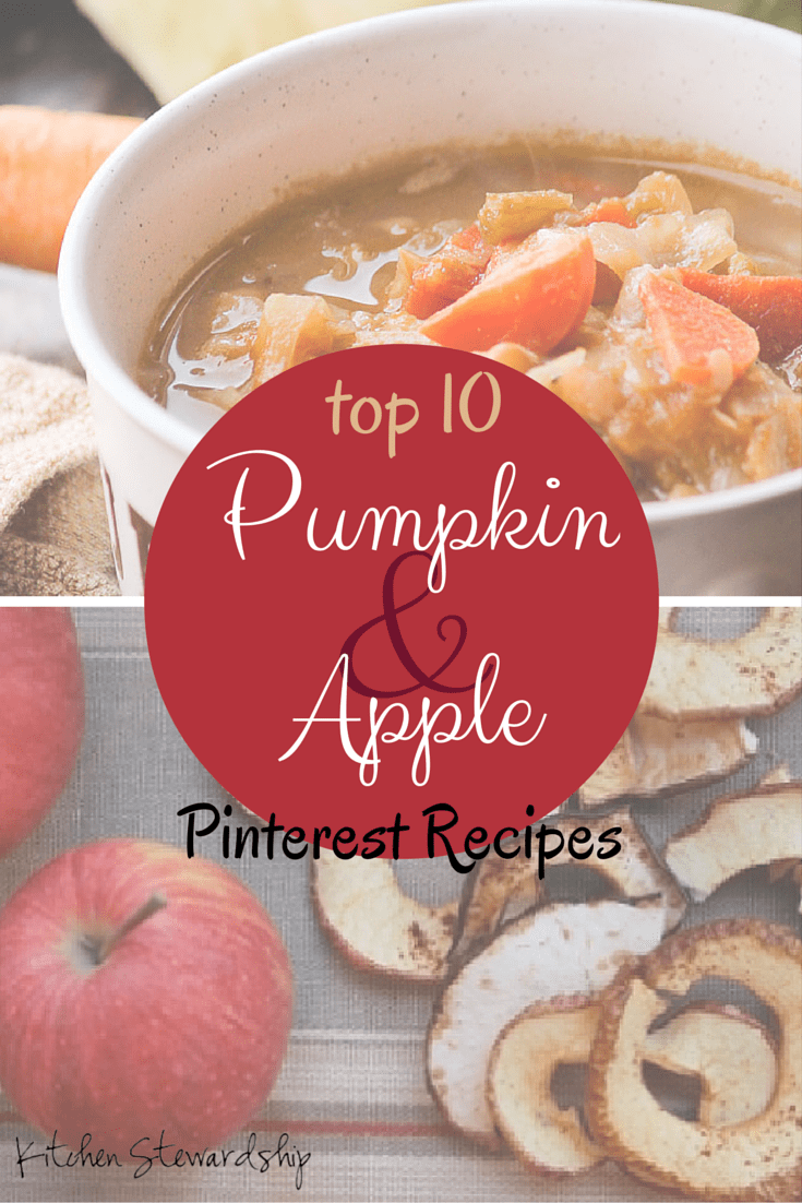 Apple Season! Pumpkin Season! Top 10 Recipes on Pinterest :: via Kitchen Stewardship
