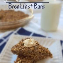 Pumpkin Oatmeal Breakfast Bars Recipe