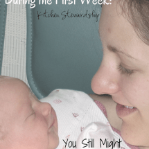 Natural Parenting During the First Week: You Still Might Have to Say NO, Just Not to the Child