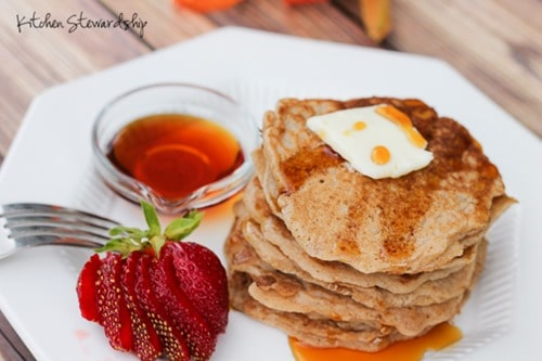 Alternatives for the glucose test when pregnant - Homemade Pancakes and syrup
