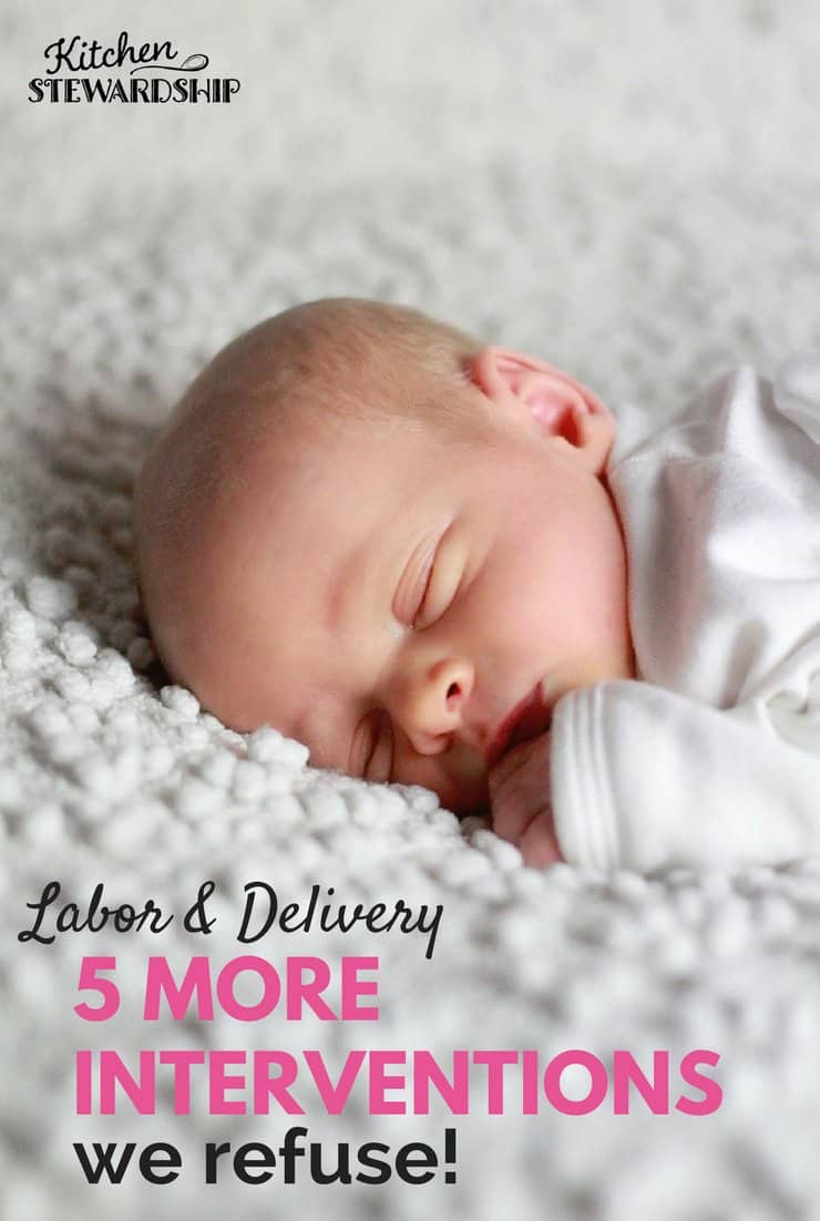 5 labor and delivery standards to refuse and why you should too