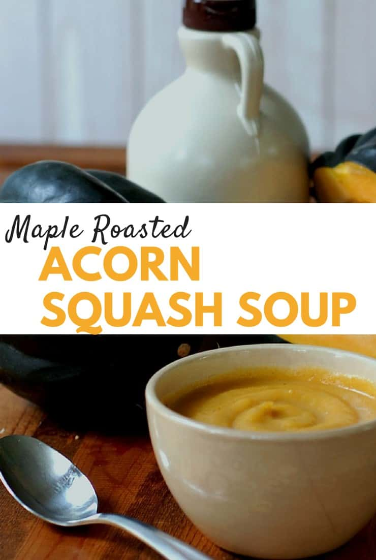 Maple Roasted acorn squash soup pinterest
