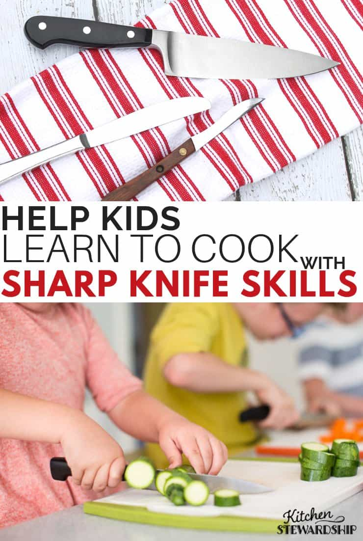 Help kids learn to cook with sharp knife skills
