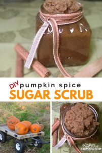 DIY Pumpkin Spice Sugar Scrub. Smell amazing this fall while nourishing your skin and fighting blemishes.