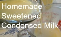 Healthy Homemade Sweetened Condensed Milk