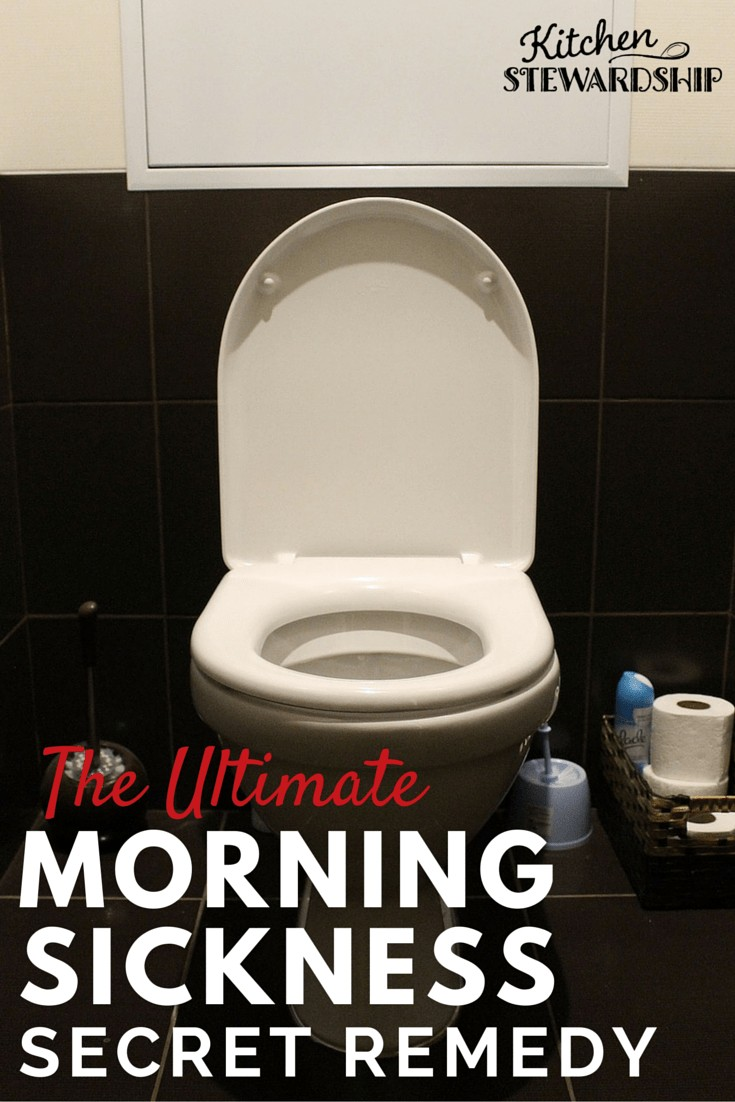 the ultimate morning sickness remedy, toilet