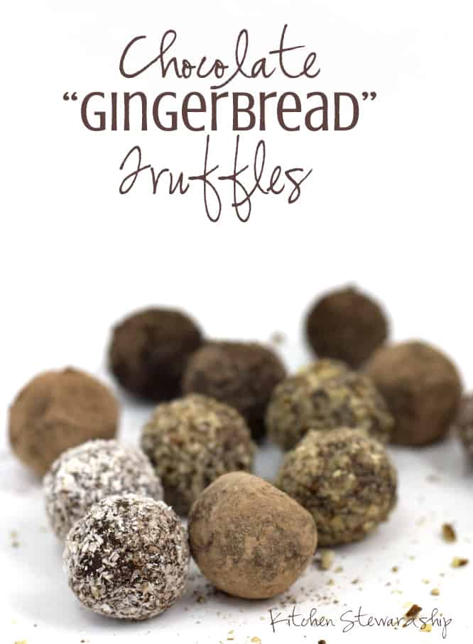 Chocolate Gingerbread Truffles- These easy dairy free and gluten free ...