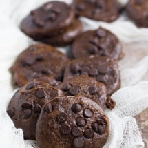 Healthier Double Chocolate Nut Butter Cookies Recipe (GF, DF, egg-free)