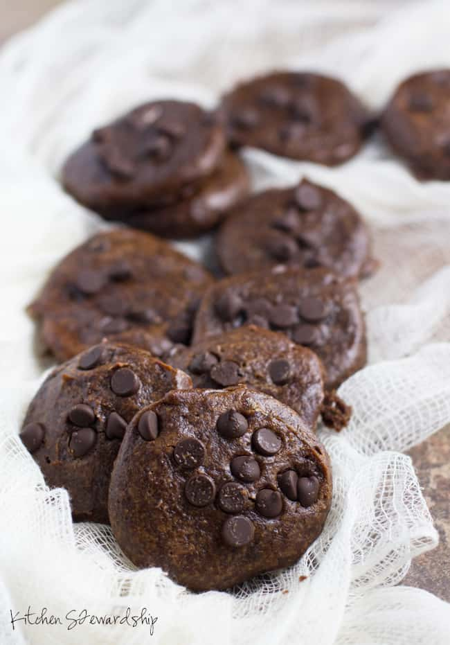 double chocolate nut butter cookies