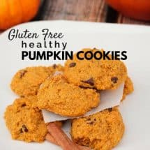 Gluten Free Soft Pumpkin Cookie Recipe
