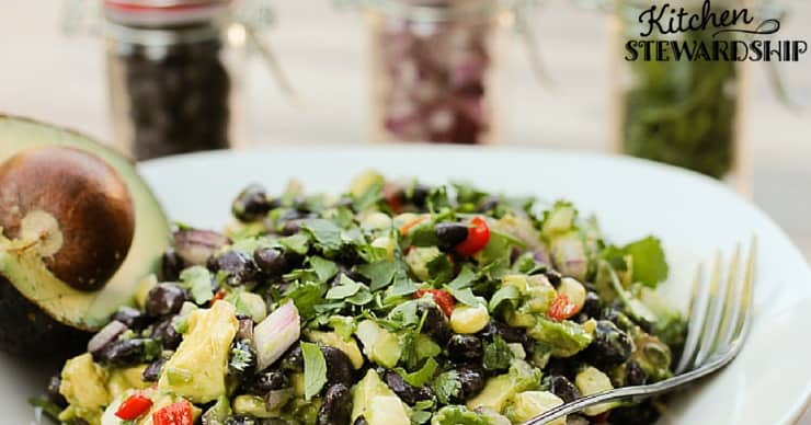 Make perfect beans in your pressure cooker for this avocado black bean salad