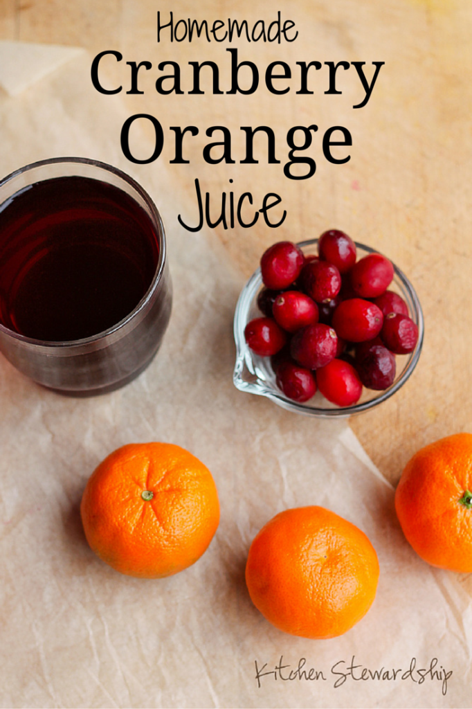 Homemade Cranberry Orange Juice